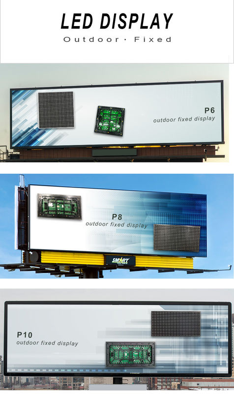 IP65 Outdoor Advertising LED Display , Led Video Wall Rental 80mm Slim Convenient