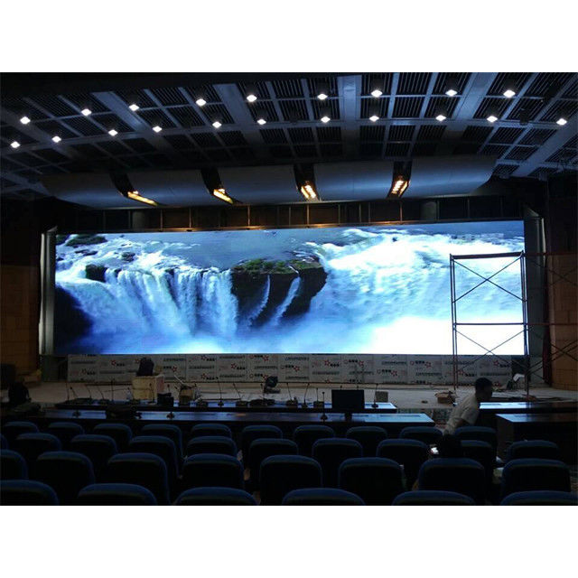 Pixel 1.25mm Indoor Led Video Wall , Rental Led Stage Display Light Weight IP40/IP20